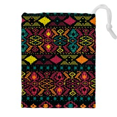 Bohemian Patterns Tribal Drawstring Pouches (xxl) by BangZart