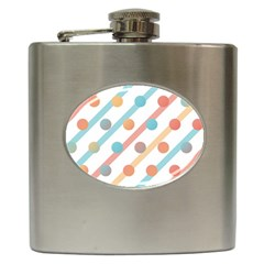 Simple Saturated Pattern Hip Flask (6 Oz) by linceazul