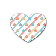 Simple Saturated Pattern Heart Coaster (4 Pack)  by linceazul