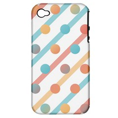 Simple Saturated Pattern Apple Iphone 4/4s Hardshell Case (pc+silicone) by linceazul