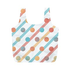 Simple Saturated Pattern Full Print Recycle Bags (m)  by linceazul