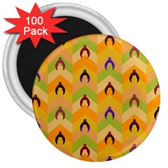Funny Halloween   Bat Pattern 1 3  Magnets (100 Pack) by MoreColorsinLife