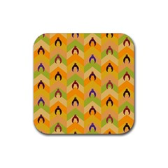 Funny Halloween   Bat Pattern 1 Rubber Square Coaster (4 Pack)  by MoreColorsinLife