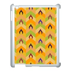 Funny Halloween   Bat Pattern 1 Apple Ipad 3/4 Case (white) by MoreColorsinLife