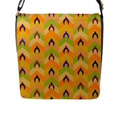 Funny Halloween   Bat Pattern 1 Flap Messenger Bag (l)  by MoreColorsinLife