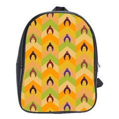 Funny Halloween   Bat Pattern 1 School Bags(large)  by MoreColorsinLife