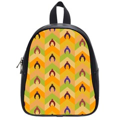 Funny Halloween   Bat Pattern 1 School Bags (small)  by MoreColorsinLife