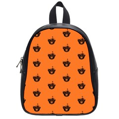 Funny Halloween   Burned Skull Pattern School Bags (small)  by MoreColorsinLife