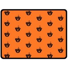 Funny Halloween   Burned Skull Pattern Fleece Blanket (large)  by MoreColorsinLife