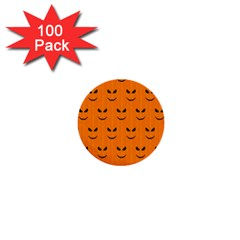 Funny Halloween   Face Pattern 1  Mini Buttons (100 Pack)  by MoreColorsinLife