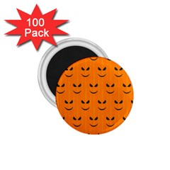 Funny Halloween   Face Pattern 1 75  Magnets (100 Pack)  by MoreColorsinLife