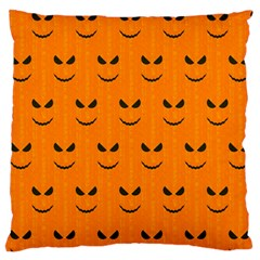 Funny Halloween   Face Pattern Large Cushion Case (two Sides) by MoreColorsinLife