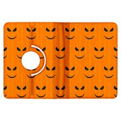 Funny Halloween   Face Pattern Kindle Fire Hdx Flip 360 Case by MoreColorsinLife