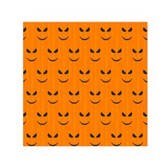 Funny Halloween   Face Pattern Small Satin Scarf (square) by MoreColorsinLife