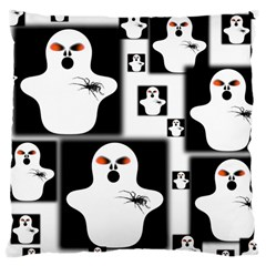 Funny Halloween   Ghost Pattern 2 Large Cushion Case (two Sides) by MoreColorsinLife