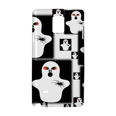 Funny Halloween   Ghost Pattern 2 Samsung Galaxy Note 4 Hardshell Case by MoreColorsinLife