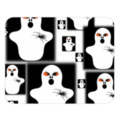 Funny Halloween   Ghost Pattern 2 Double Sided Flano Blanket (large)  by MoreColorsinLife