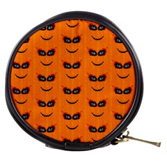Funny Halloween   Face Pattern 2 Mini Makeup Bags by MoreColorsinLife