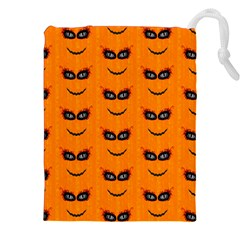 Funny Halloween   Face Pattern 2 Drawstring Pouches (xxl) by MoreColorsinLife