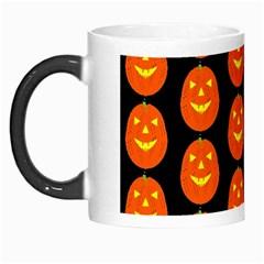 Funny Halloween   Pumpkin Pattern 2 Morph Mugs by MoreColorsinLife