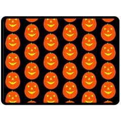 Funny Halloween   Pumpkin Pattern 2 Double Sided Fleece Blanket (large)  by MoreColorsinLife