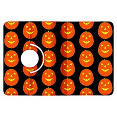Funny Halloween   Pumpkin Pattern 2 Kindle Fire Hdx Flip 360 Case by MoreColorsinLife