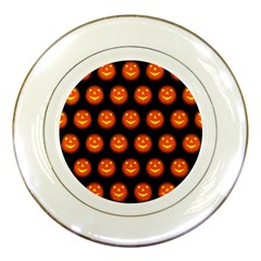 Funny Halloween   Pumpkin Pattern Porcelain Plates by MoreColorsinLife