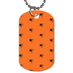 Funny Halloween   Spider Pattern Dog Tag (two Sides) by MoreColorsinLife