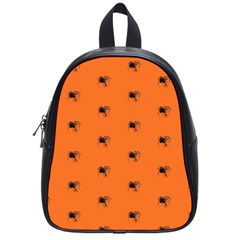 Funny Halloween   Spider Pattern School Bags (small)  by MoreColorsinLife