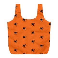 Funny Halloween   Spider Pattern Full Print Recycle Bags (l)  by MoreColorsinLife