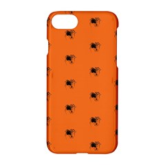 Funny Halloween   Spider Pattern Apple Iphone 7 Hardshell Case by MoreColorsinLife