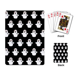 Funny Halloween   Ghost Pattern Playing Card by MoreColorsinLife