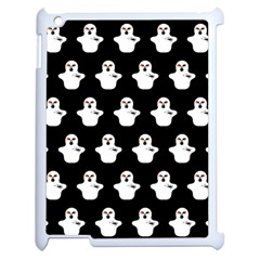 Funny Halloween   Ghost Pattern Apple Ipad 2 Case (white) by MoreColorsinLife