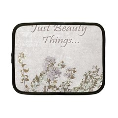Shabby Chic Style Motivational Quote Netbook Case (small)  by dflcprints