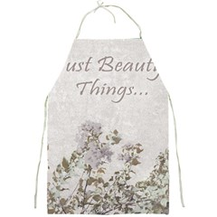 Shabby Chic Style Motivational Quote Full Print Aprons by dflcprints