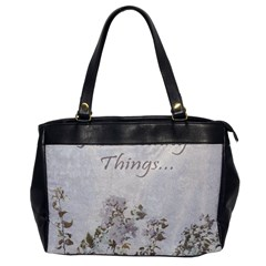 Shabby Chic Style Motivational Quote Office Handbags by dflcprints