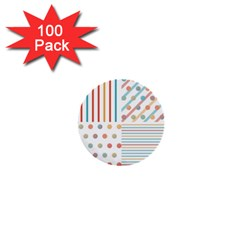 Simple Saturated Pattern 1  Mini Buttons (100 Pack)  by linceazul