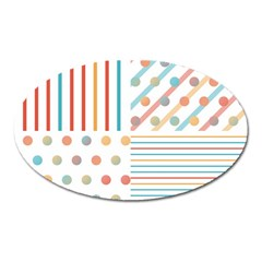 Simple Saturated Pattern Oval Magnet by linceazul