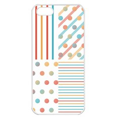 Simple Saturated Pattern Apple Iphone 5 Seamless Case (white) by linceazul