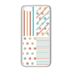 Simple Saturated Pattern Apple Iphone 5c Seamless Case (white) by linceazul