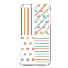 Simple Saturated Pattern Apple Iphone 6 Plus/6s Plus Enamel White Case by linceazul