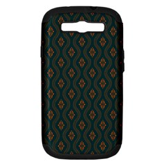 Ornamental Pattern Background Samsung Galaxy S Iii Hardshell Case (pc+silicone) by TastefulDesigns