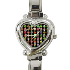 Beetles Insects Bugs Heart Italian Charm Watch by BangZart