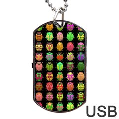 Beetles Insects Bugs Dog Tag Usb Flash (one Side) by BangZart