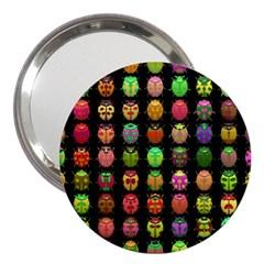 Beetles Insects Bugs 3  Handbag Mirrors by BangZart