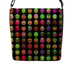 Beetles Insects Bugs Flap Messenger Bag (l)  by BangZart