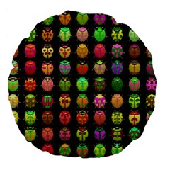 Beetles Insects Bugs Large 18  Premium Flano Round Cushions by BangZart