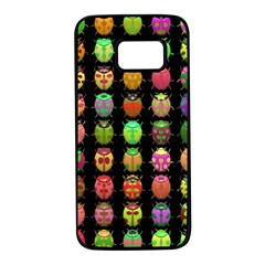 Beetles Insects Bugs Samsung Galaxy S7 Black Seamless Case by BangZart