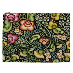 Bohemia Floral Pattern Cosmetic Bag (xxl)  by BangZart