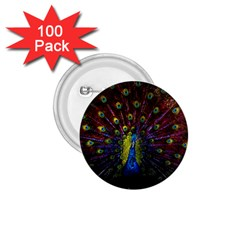 Beautiful Peacock Feather 1 75  Buttons (100 Pack)  by BangZart